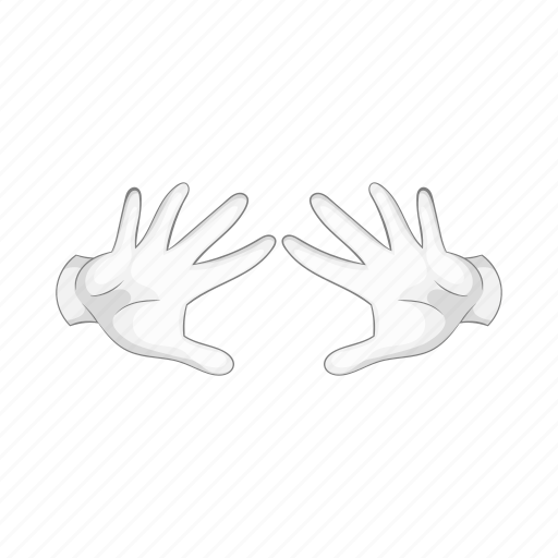 cartoon, glove, hand, magic, magician, performing, trick icon