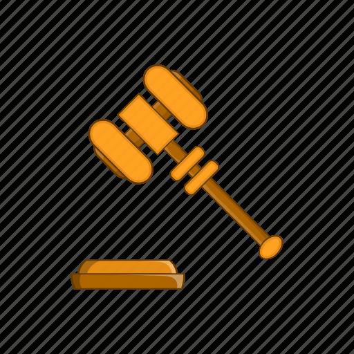cartoon, crime, gavel, judge, judgment, justice, law icon