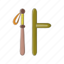 arm, baton, cartoon, club, protection, secure, truncheon icon