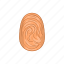 biometric, cartoon, crime, fingerprint, mast, security, skin icon