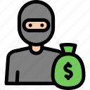 crime, criminal, investigation, robber icon