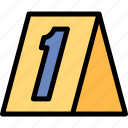 crime, investigation, number, scene icon
