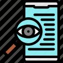 crime, investigation, smartphone, technology icon