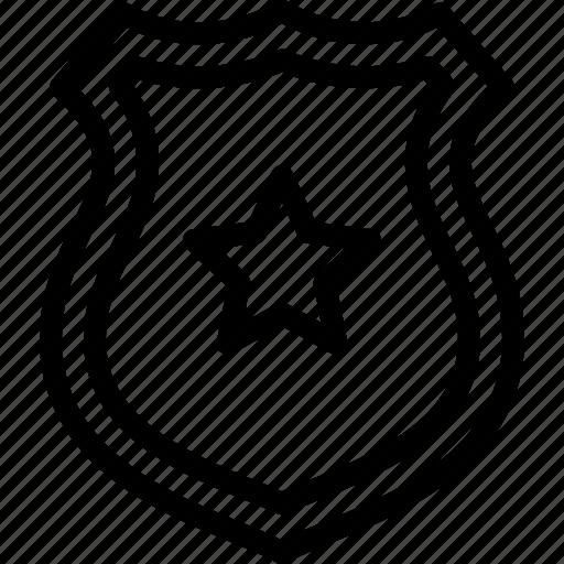 badge, crime, investigation, police icon