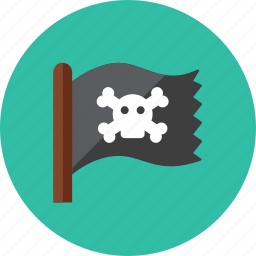 flag, pirate icon