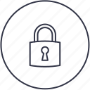 block, key, lock, padlock, riddle icon