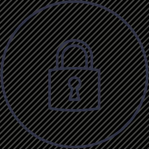 block, key, lock, padlock, riddle icon