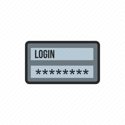 element, interface, internet, page, password, user, username icon