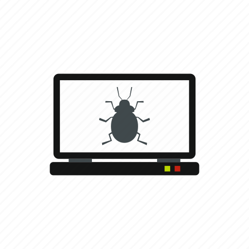 bug, computer, display, equipment, pc, screen, technology icon