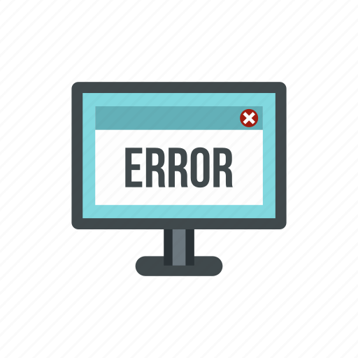 computer, digital, error, modern, monitor, screen, technology icon
