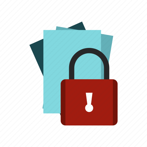 document, internet, lock, password, protection, safe, secure icon