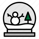 christmas, cold, snow, snowman, tree, winter, xmas