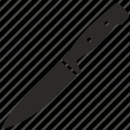 blade, cook, crockery, knife, meat, medium icon