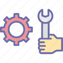 maintenance, preferences, setting, technical assistance icon