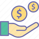 donation, funding, fundraising, loan icon