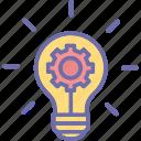 creative idea, idea development, idea generation, innovative idea icon