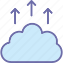 cloud backup, cloud computing, cloud upload, data transferring icon