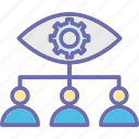 business operations, organization, team management, team monitoring icon