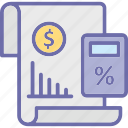 business report, financial accounting, financial report, graph sheet icon