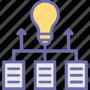 creative idea, data insight, data monitoring, new idea icon