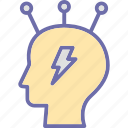 artificial intelligence, brainstorming, decision making, mind mapping icon