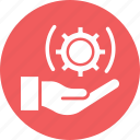 installation, maintenance, settings, technical services icon
