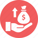 asset growth, income growth, income level, money growth icon