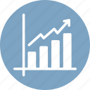 business analytics, business growth, chart, revenue growth icon