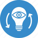 idea visualization, imagination, innovation, monitoring icon