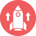 missile, rocket, spacecraft, spaceship icon