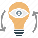 idea visualization, imagination, innovation, monitoring icon