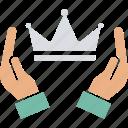 crown, headgear, nobility, premium quality icon