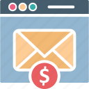 email advertising, email campaign, email marketing, email services icon