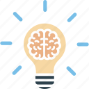 brainstorming, creative thinking, innovative brain, innovative idea icon