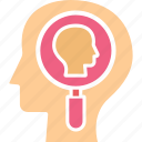 analytical thinking, brainstorming, human mind, logical thinking icon