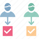 hiring, human resources, job applicants, job selection icon