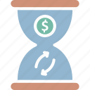 time efficiency, time investment, time is money, time savings icon
