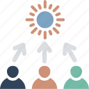 business management, employee training, employee turnover, staff turnover icon