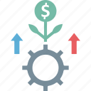 business growth, dollar plant, financial growth, investment icon