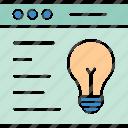 creative idea, innovation, innovative solution, web startup icon