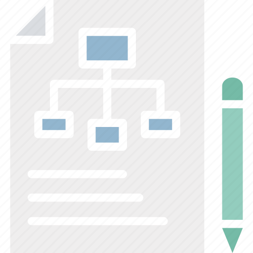 algorithm, flowchart, project layout, project plan icon