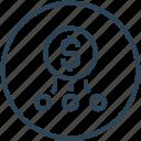 affiliate, funding, fundraising, money icon