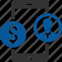 app, backer, mobile, revenue, user icon