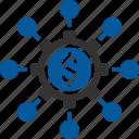 crowdfund, crowdfunding, portal, revenue icon