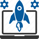 launch, missile, startups icon