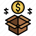 bonus, money, return, reward, shopping icon