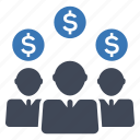 crowdfunding, stockholder, investors icon