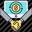 lending, p2p, p2p lending icon