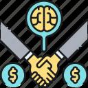 cofounder, crowdfunding, funding, handshake, inventor, investor, partner