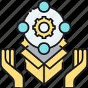 fulfillment, fulfilment center, project, project fulfillment icon